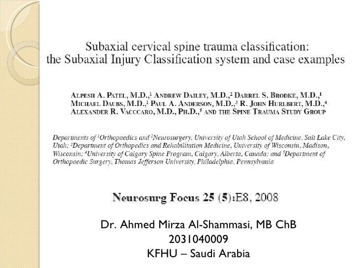 Dr. Ahmed Mirza Al-Shammasi, MB ChB 2031040009 KFHU – Saudi Arabia