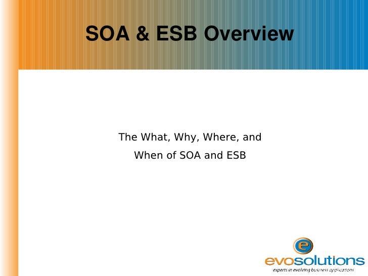 SOA & ESB Presentation Slide 3