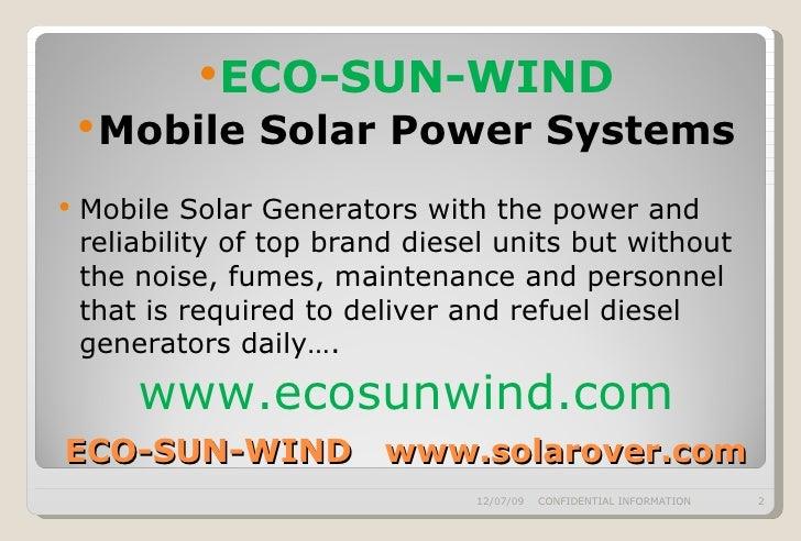 ECO-SUN-WIND Solar Power Presentation Slide 2