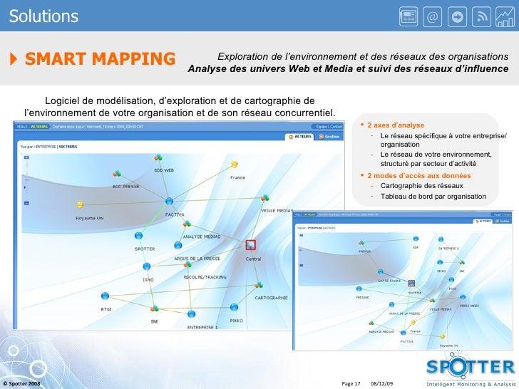    SMART MAPPING Solutions Exploration de l'environnement et des réseaux des organisations Analyse des univers Web et Med...