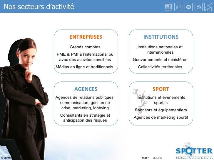 Page  ENTREPRISES INSTITUTIONS SPORT AGENCES Grands comptes PME & PMI à l'international ou avec des activités sensibles Mé...