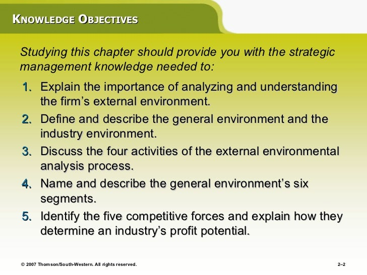 discuss the four activities of the external environment analysis process As part of the strategic planning process factors and in a swot analysis the firm's internal environment—such external environment.