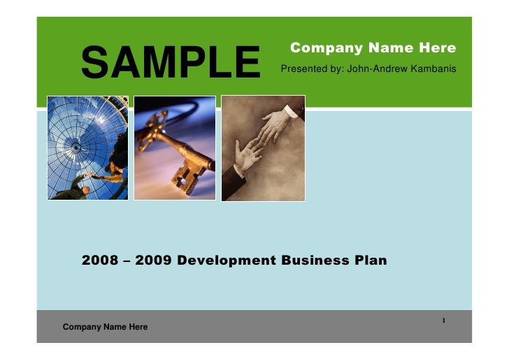 property development business plan sample