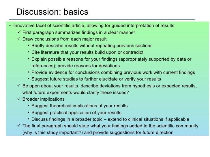 scientific discussion questions