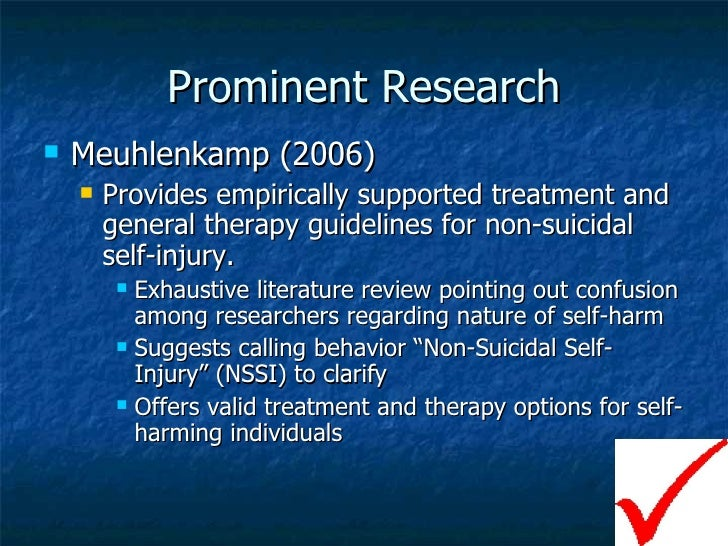 research paper on self-injury Research papers on self-injury - composing a custom essay is go through many stages get started with term paper writing and craft finest term paper ever professional scholars engaged in the service will write your assignment within the deadline.