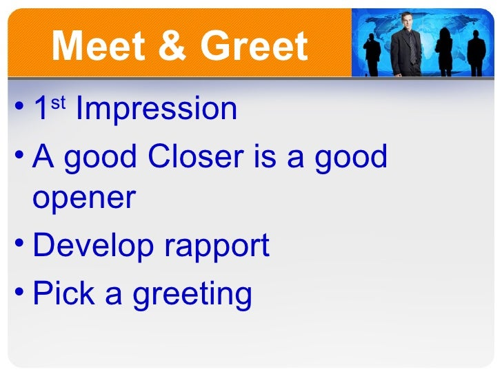 meet greet sales steps