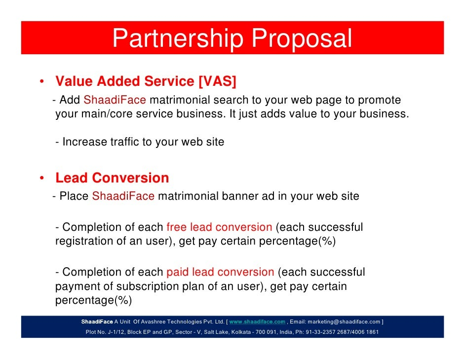 business proposal for partnership
