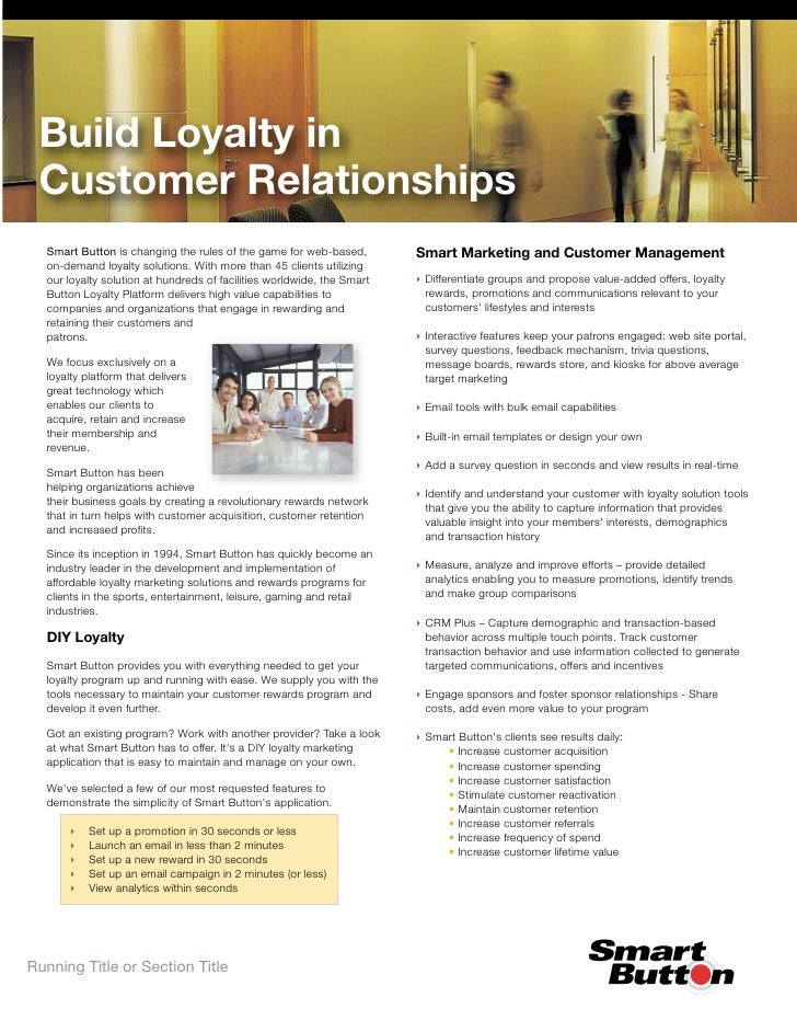 Build Loyalty in  Customer Relationships                                                                         Smart Mar...