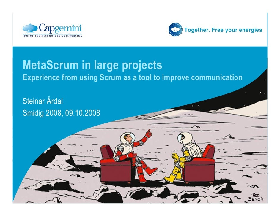 Together. Free your energies     MetaScrum in large projects Experience from using Scrum as a tool to improve communicatio...