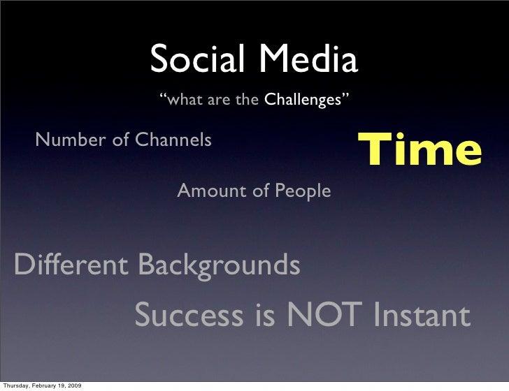 """Social Media                                """"what are the Challenges""""                                                     ..."""