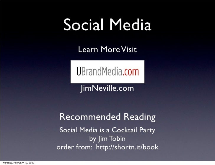 Social Media                                     Learn More Visit                                         JimNeville.com  ...