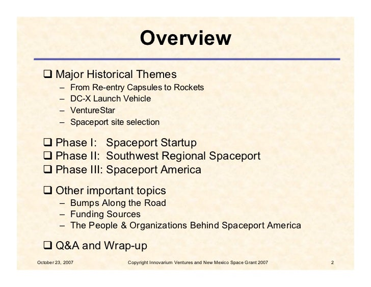 History of Spaceport America, New Mexico Slide 2