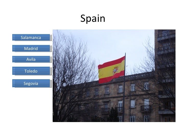 Spain Salamanca Madrid Avila Toledo Segovia