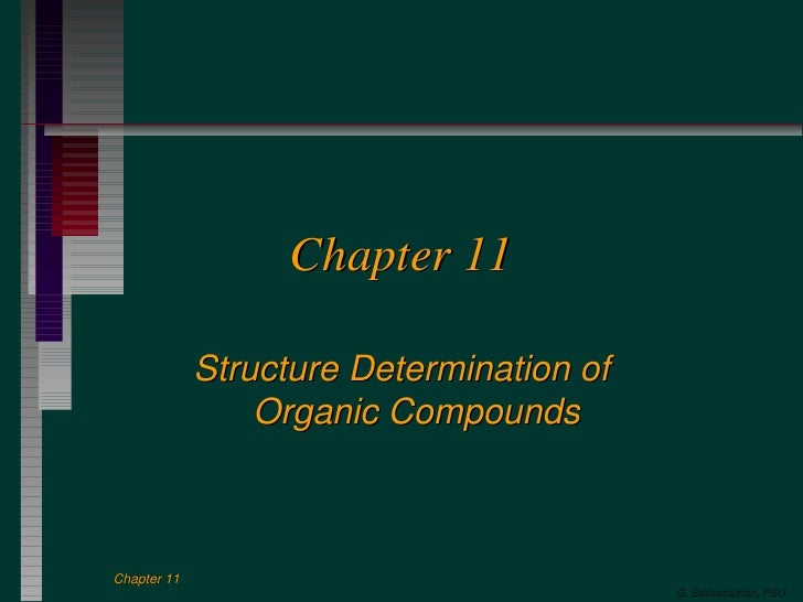 Chapter 11 Structure Determination of Organic Compounds