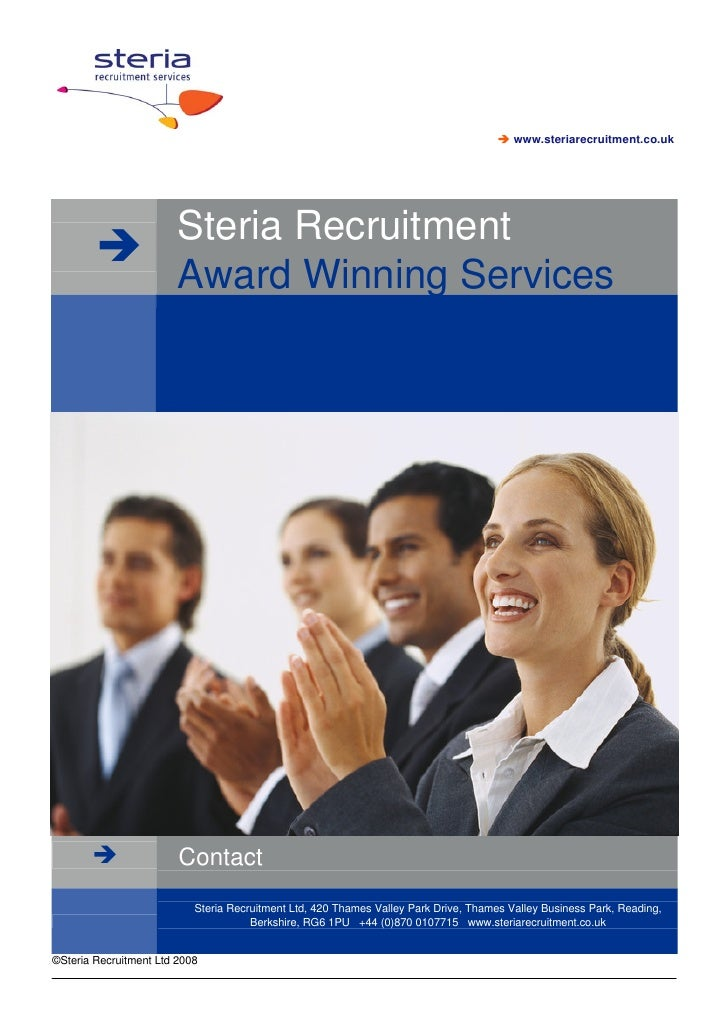 www.steriarecruitment.co.uk                             Steria Recruitment                         Award Winning Services ...
