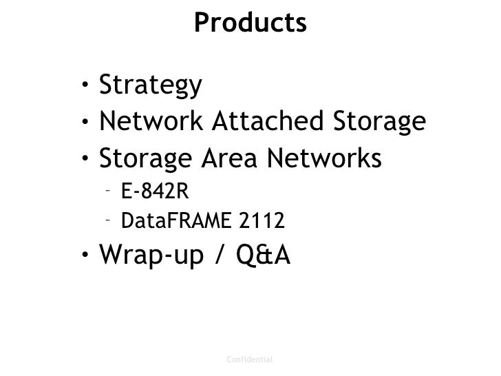 Storage Technology Overview