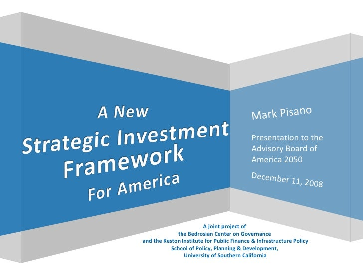 Mark Pisano A joint project of  the Bedrosian Center on Governance  and the Keston Institute for Public Finance & Infrastr...