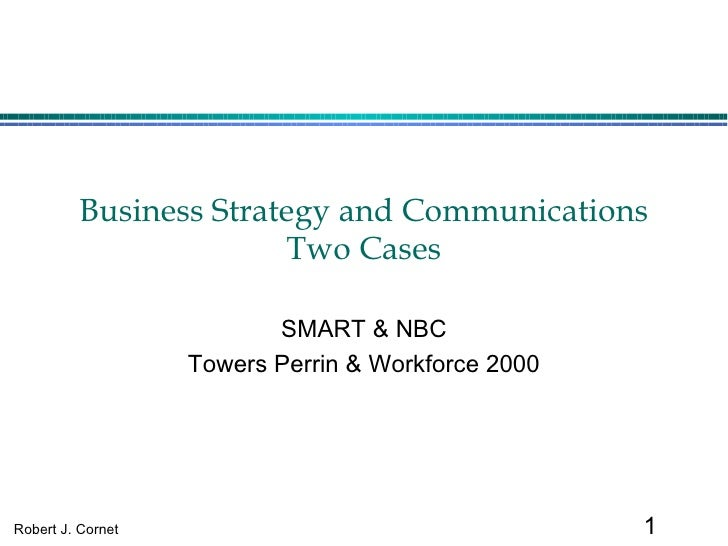 Business Strategy and Communications Two Cases SMART & NBC Towers Perrin & Workforce 2000