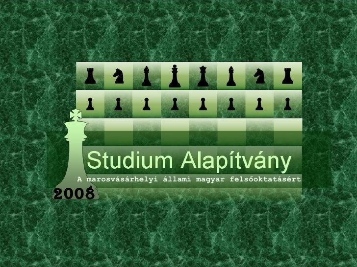 A marosvásárhelyi állami magyar felsőoktatásért 2008