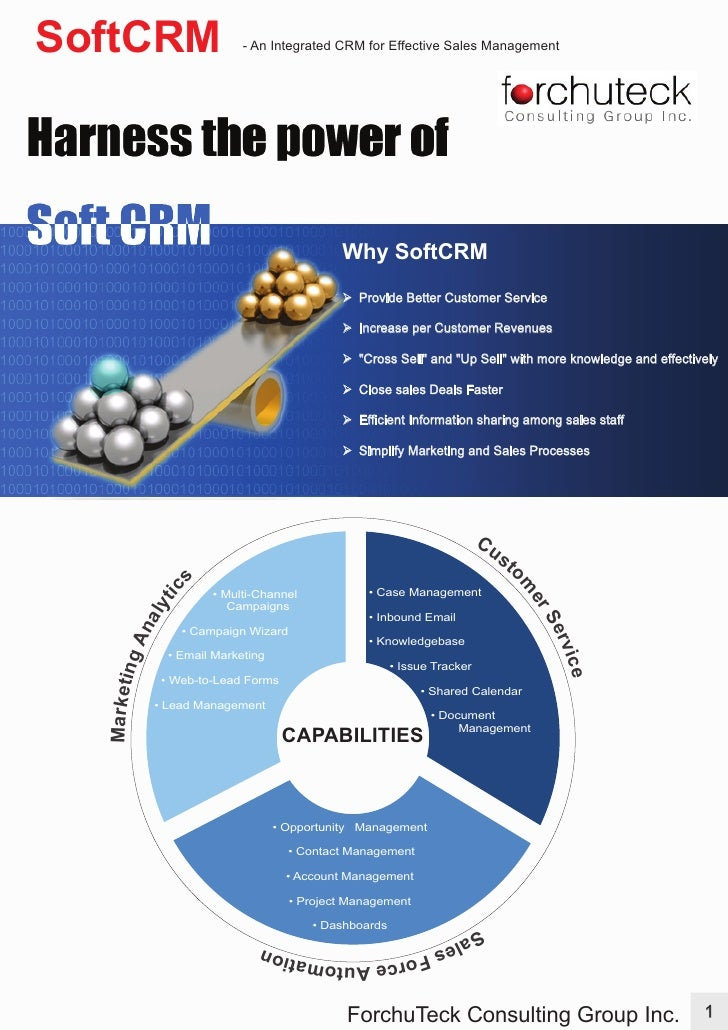 SoftCRM                     - An Integrated CRM for Effective Sales Management                                            ...