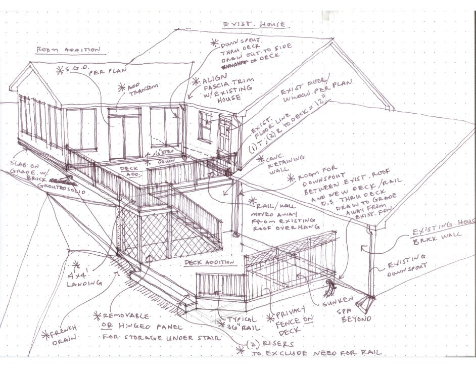 Sunroom Deck Sketch