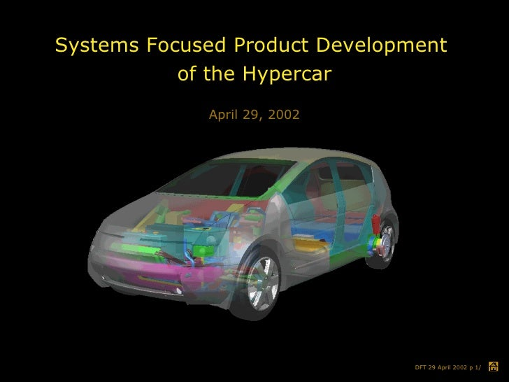 Systems Focused Product Development  of the Hypercar April 29, 2002