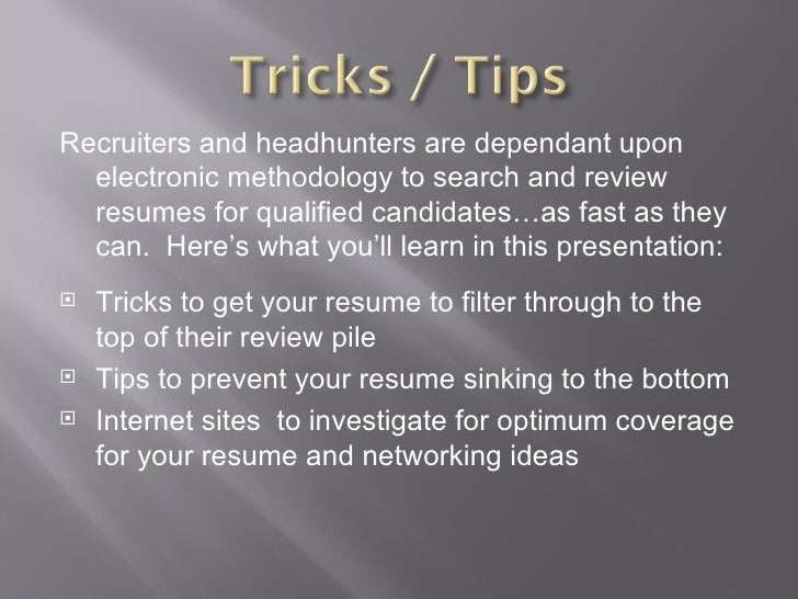 SlideShare  How To Get Resumes