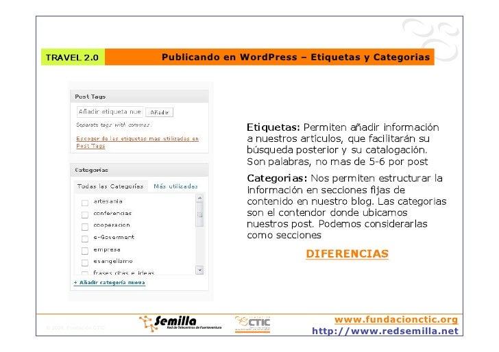 Publicando en WordPress – Etiquetas y Categorias                                                            www.fundacionc...