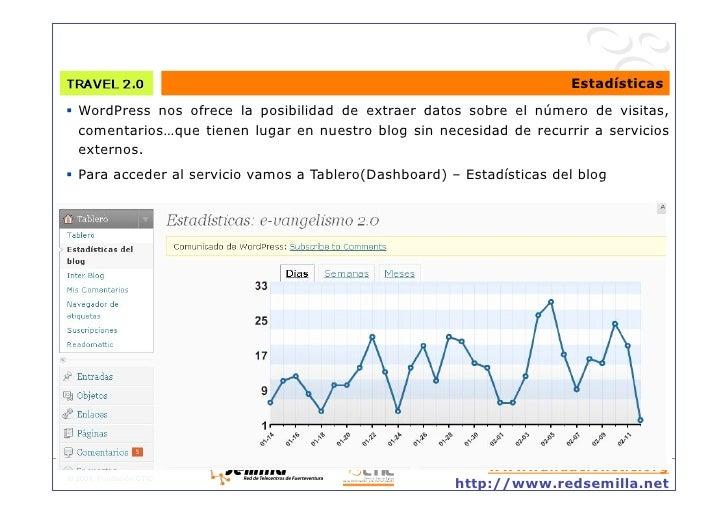 Estadísticas  WordPress nos ofrece la posibilidad de extraer datos sobre el número de visitas,    comentarios…que tienen...