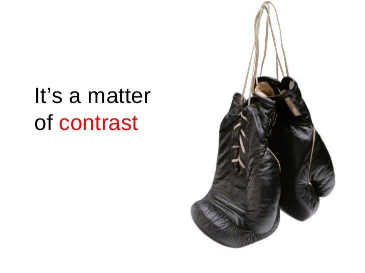 It's a matter  of  contrast
