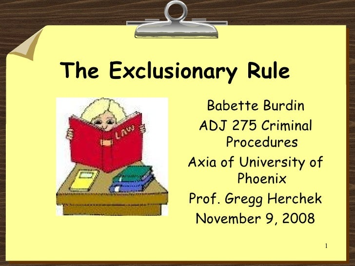 Pros and Cons of the Exclusionary Rule