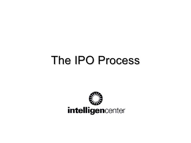 The IPO Process