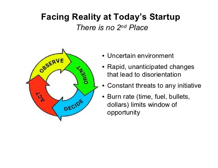 Facing Reality at Today's Startup         There is no 2nd Place                  • Uncertain environment                • ...