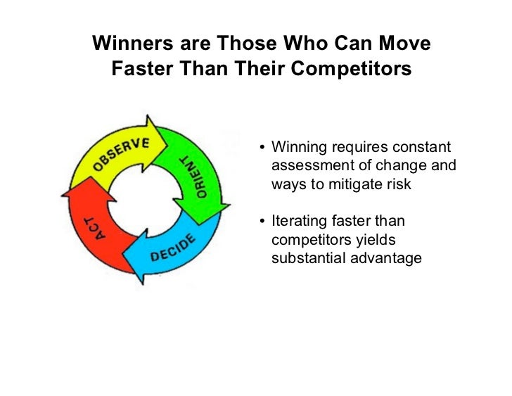 Winners are Those Who Can Move  Faster Than Their Competitors                 • Winning requires constant                 ...