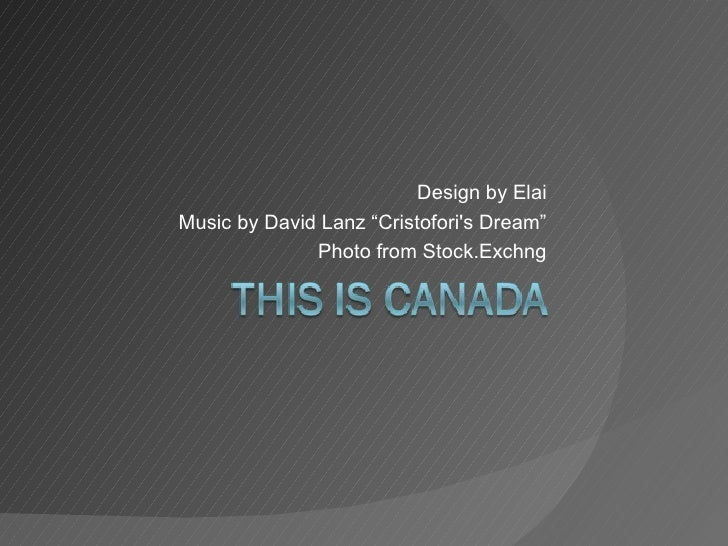 "Design by Elai Music by David Lanz ""Cristofori's Dream"" Photo from Stock.Exchng"