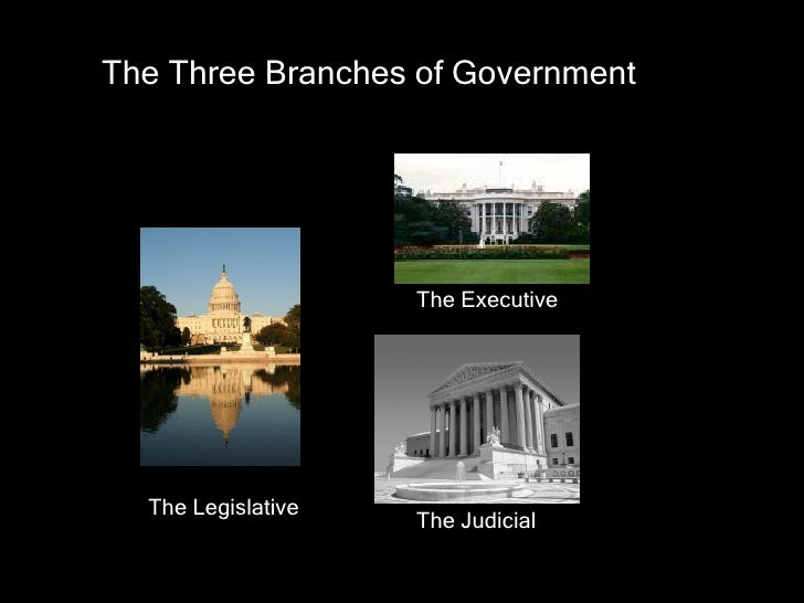 The Executive The Legislative The Judicial The Three Branches of Government