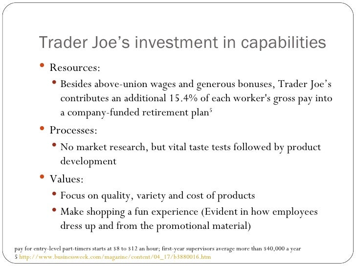 traders joes case study Trader joes case solution, based on a variety of parameters, trader joe considered one of the most successful power in the united states in 2013 the experts felt.