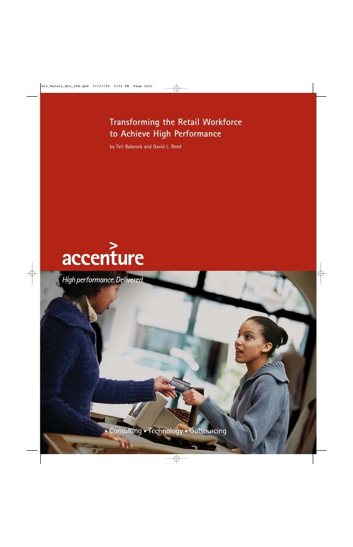 Transforming the Retail Workforce to Achieve High Performance by Teri Babcock and David L. Reed