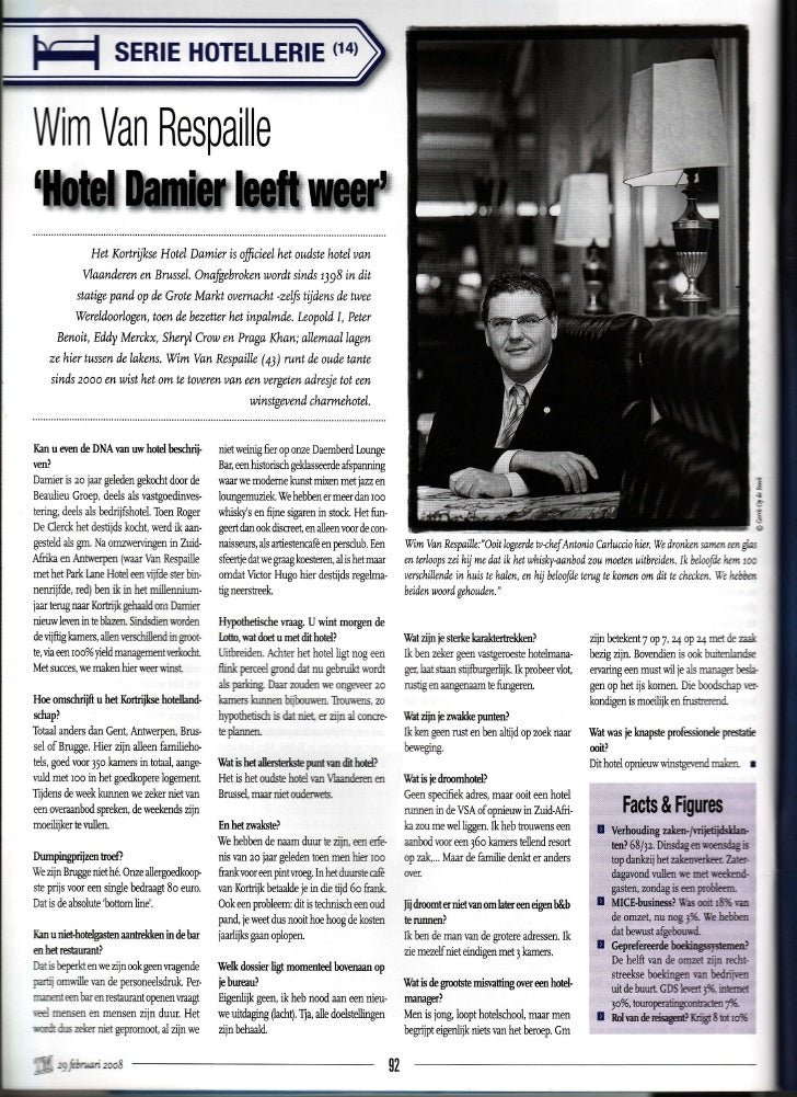 n4) p:l                 SERIE                         HoTELLERIE  Wim Respaille    Van ï*ffiffi               HetKortijkwH...