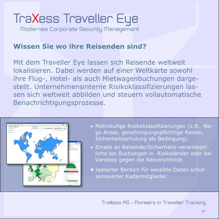 Traxess Traveller Security Solutions Slide 2