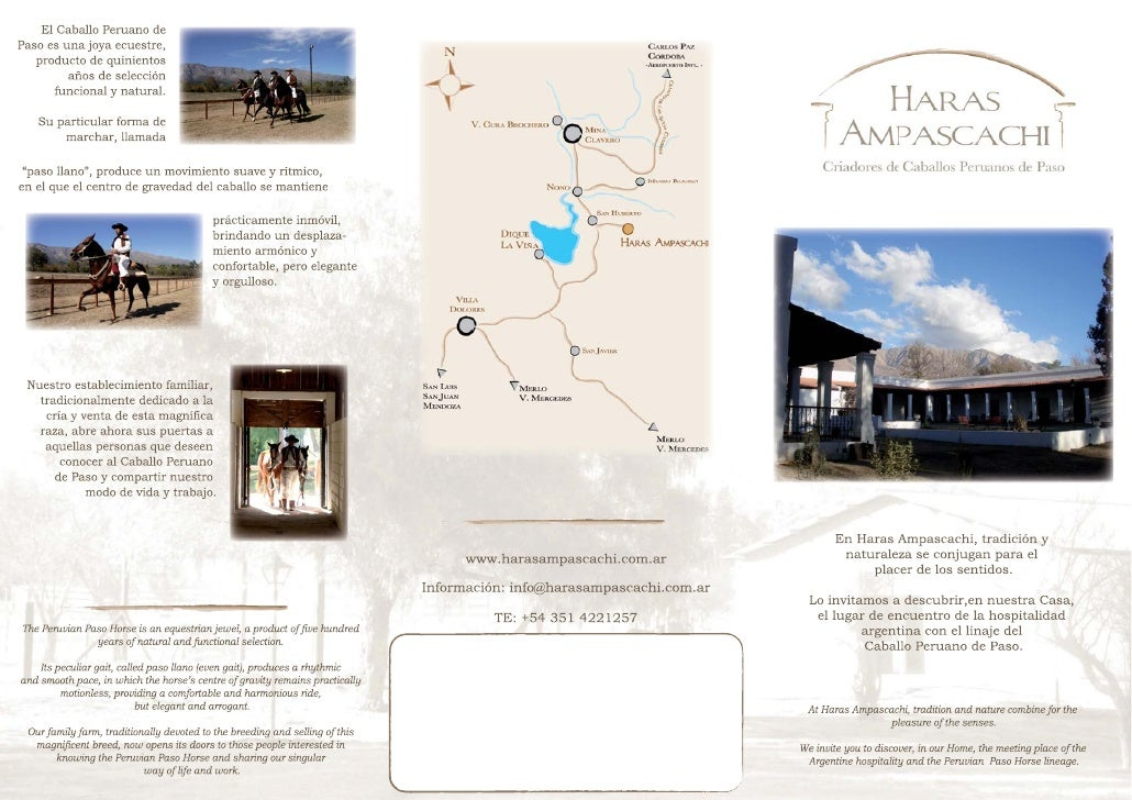 Our field personnel are fully qualified to lead you through the process of easily   En Haras Ampascachi le ofrecemos:     ...
