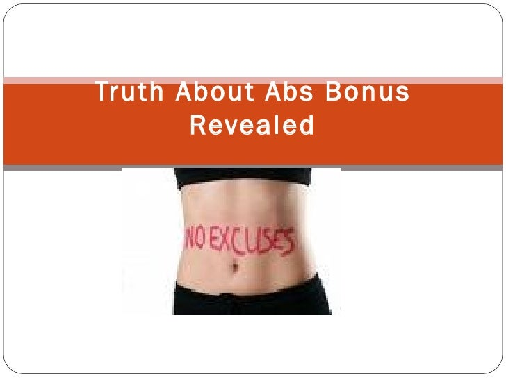 Truth About Abs Bonus Revealed