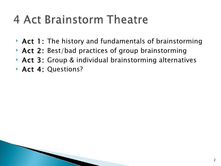 A Portfolio of Brainstorming Techniques Slide 2