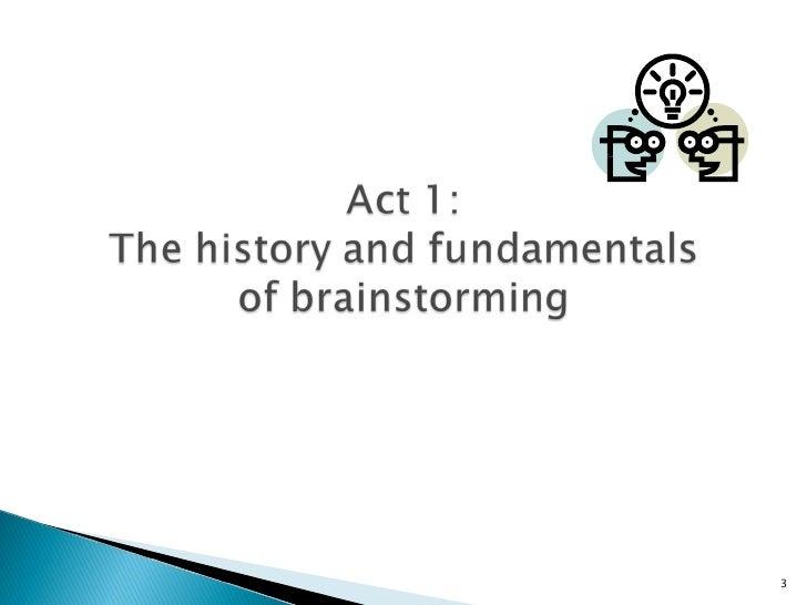 A Portfolio of Brainstorming Techniques Slide 3