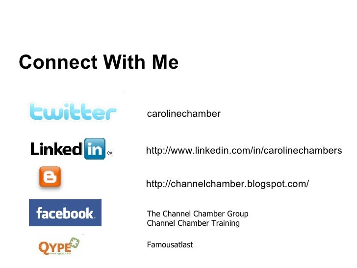 Connect With Me carolinechamber http://channelchamber.blogspot.com/ http://www.linkedin.com/in/carolinechambers The Channe...