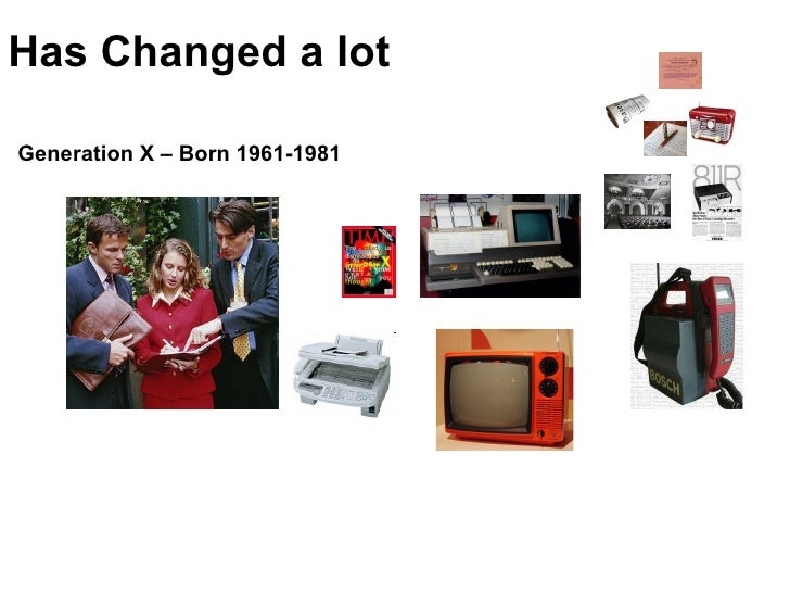 Has Changed a lot Generation X – Born 1961-1981