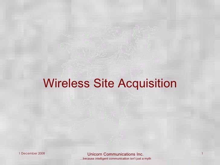 Wireless Site Acquisition
