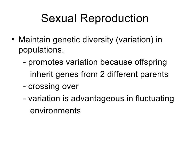 Facts about sexual reproduction