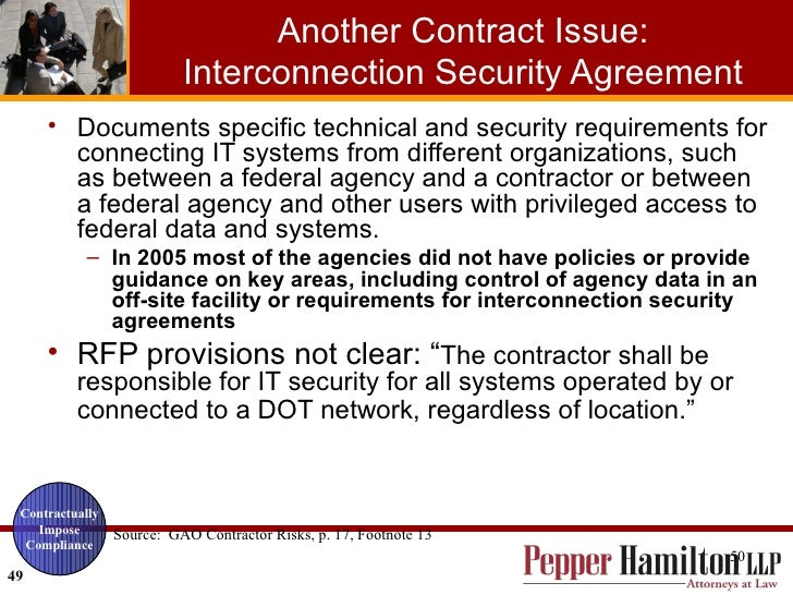 Contractor Responsibilities Under The Federal Information Security Ma