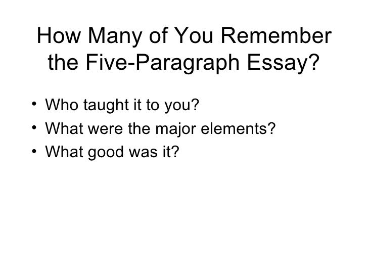 paragraph essay the five paragraph essay template for college writing dr harold william halbert 2